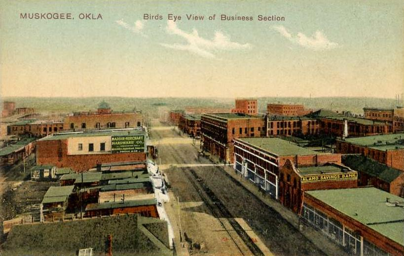 Bird's-eye_View_of_Business_Section,_Muskogee,_OK